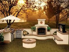 An outdoor kitchen island can be quite a focal point and a source of enjoyment. Learn about all the features for great outdoor kitchen designs. Outdoor Kitchen Plans, Backyard Kitchen, Summer Kitchen, Outdoor Kitchen Design, Outdoor Cooking, Outdoor Kitchens, Outdoor Spaces, Outdoor Living, Outdoor Landscaping