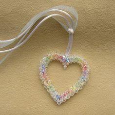 Crystal Open Heart Pattern | Bead-Patterns.com
