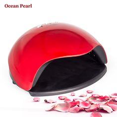 promo ocean pearl 48w uv nail dryer led lamp uv lamp double light motion sensor manicure nail lamp uv gel #gel #polish