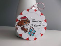 In My Creative Opinion: 25 Days of Christmas Tags - Day 23 25 Days Of Christmas, Christmas Tag, Christmas Bulbs, Merry, Sketches, Tags, Holiday Decor, Creative, Stamping