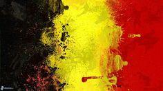 Belgian flag art