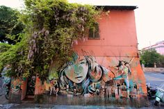 Street Art by Alice in Rome, Italy - photo by Jessica Stewart -