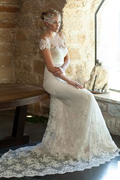 Find More Wedding Dresses Information about cheap romantic boho wedding dresses 2016 custom made scoop slim appliques lace  bridal marry gown for wedding party gown,High Quality gowns for wedding,China boho wedding dress 2016 Suppliers, Cheap boho wedding dress from suzhou  helen wedding dress company on Aliexpress.com