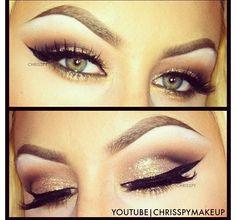 Makeup - green eyes
