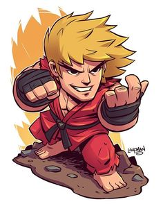 Chibi Ken from Street Fighter. #capcom #fanart #chibi #ken #streetfighter…
