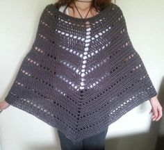 (4) Name: 'Crocheting : Chunky Poncho