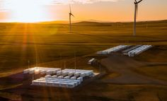 Neoen's existing 150MW Hornsdale Power Reserve battery, paired with a wind farm, in Australia. Image: Neoen. Energy Storage, Australia, Image, Australia Beach