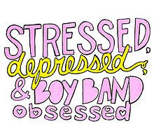 Stressed , depressed and boy band obsessed Tumblr Transparents, Theme Divider, Les Stickers, 5sos Memes, Tumblr Quotes, 1d And 5sos, Get To Know Me, Grief, Boy Bands