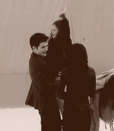 Behind the scenes. Edward, Renesmee and Bella