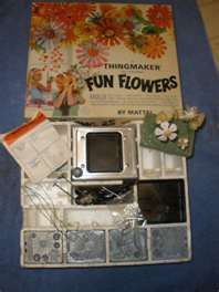 Fun Flowers by Mattel 1966 - LOVED this. Made flowers in the ThingMaker with metal molds and Plasti-Goop.  Creepy Crawler molds too!