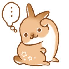 japanese bunny sticker (silent ver.) - Creators' Stickers
