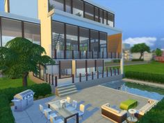Natural Mansion by Evairance at Mod The Sims via Sims 4 Updates