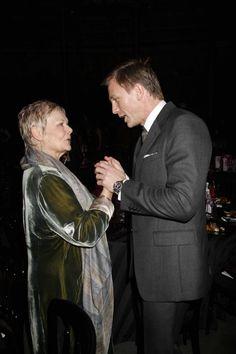 Bond with M. (Daniel Craig & Dame Judi Dench)