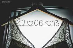 Ceintre avec date du mariage