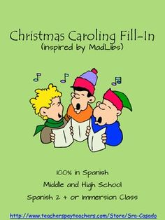 **FREE** Christmas themed Fill-in (inspired by MadLibs) in Spanish, middle and high school #funSpanish #madlibs