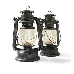 Set of Two Battery Operated Lanterns - Grandin Road