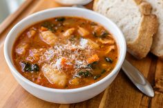 Fresh autumn vegetables simmered to perfection in a roasted garlic and tomato broth over pillowy gnocchi.