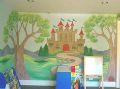castle mural for boys - Google Search