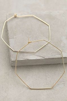 Anthropologie - Hexagon Hoops