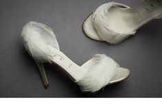 Something Bleu Feather D'Orsay Pumps