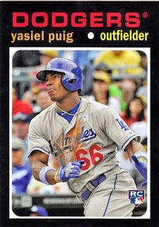 Dodgers Blue Heaven: 2013 Topps Update Baseball - 1971 Mini's #TM31 Yasiel Puig