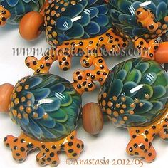 I love just about everything by this artist. I think the base of these would be a good start for turtles -- and then I would HAVE to have them.