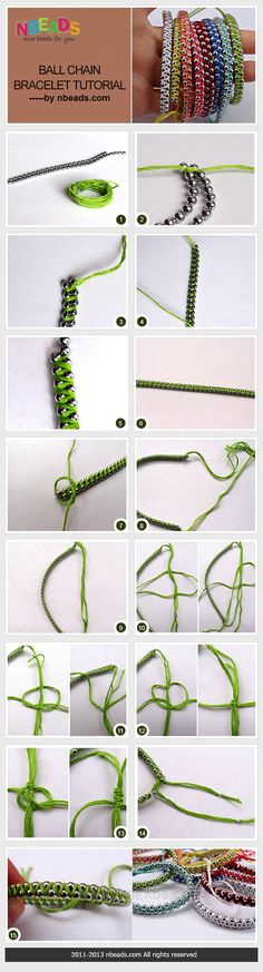 ball chain bracelet tutorial SO COOL! Beaded Jewelry, Jewelry Bracelets, Handmade Jewelry, Necklaces, Jewellery, Collar Diy, Crochet Bracelet, Camping Crafts, Bijoux Diy