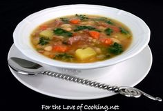 For the Love of Cooking » White Bean, Kale, Potato, and Ham Soup