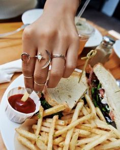 Afternoon Delight [Stackers + Rope the Moon Ring + Double Horn Ring] // #LILICLASPE