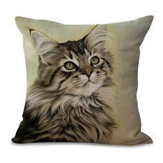 Cat Print Pillow Cases