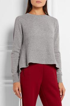 Alexander McQueen | Asymmetric ribbed cashmere sweater | NET-A-PORTER.COM