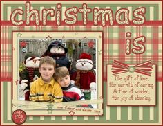 scrapbook layouts christmas | christmas scrapbook pages christmas is by kim macdonald by rebecca ...