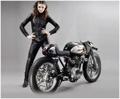 Honda '66 Black bomber:: Krugger Motorcycle - via 8negro