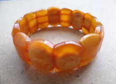 VINTAGE Königsberg amber beads ANTIQUE Bracelet BALTIC AMBER Necklacee 19 g.