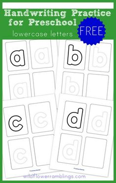 Preschool Handwriting Practice - Lowercase {free printables!} -Wildflower Ramblings