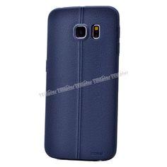 Samsung Galaxy S6 Edge Deri Görünümlü Silikon Kılıf Mavi -  - Price : TL14.90. Buy now at http://www.teleplus.com.tr/index.php/samsung-galaxy-s6-edge-deri-gorunumlu-silikon-kilif-mavi.html