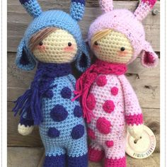 Pixie-Crafts • Blue and pink Ginny giraffes available in the...