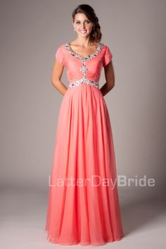 MDS 002 - Modest Bridesmaid Dress | Modest Bridesmaid Dresses ...