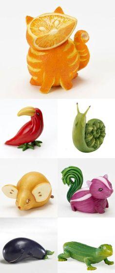 This is so cute! #Animal #fruit #foodart