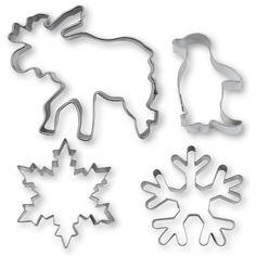 Utstickare Bakformar Vinter 4-delar