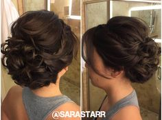 Bridesmaid updo Sara Starrfield Brautjungfern-Hochsteckfrisur Sara Starrfield This image. Wedding Hair And Makeup, Hair Makeup, Makeup Salon, Clown Makeup, Makeup Studio, Dress Makeup, Wedding Nails, Halloween Makeup, Hairstyle Bridesmaid