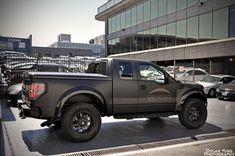 Ford Raptor in matte black.