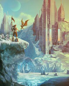 The Frozen Barracks, Steve Palmerton on ArtStation at https://www.artstation.com/artwork/2g8A
