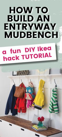 Looking for a way to add interest to your mudroom, sun porch, or entryway? Why not try this IKEA hack for an entryway mudbench that looks like a custom built piece of furniture. Full DIY tutorial how to instructions included. Ikea Bench, Diy Bench, Diy Furniture Building, Ikea Hack, Mudroom, Diy Tutorial, Porch, Entryway