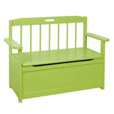 Green seat and storage
