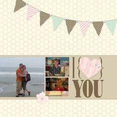 Happy 2 Scrap 4 Life  My Digital Studio  Stampin up  Valentine's day layout