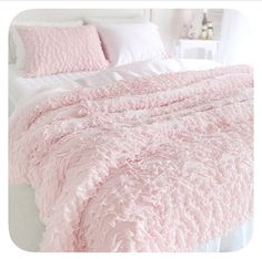 Pale Pink Ruffles and Lace Bedding