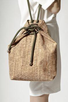 cork bag, by Maria Mavroudi