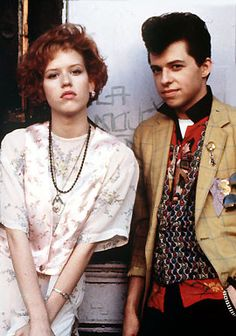 """Pretty in Pink"" (1986) directed by Howard Deutch/written by John Hughes/starring Molly Ringwald, Jon Cryer, Harry Dean Stanton & Annie Potts"