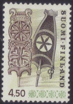 Finland postage stamp Popular Hobbies, Going Postal, Stamp Collecting, Historian, Wood Carving, Postage Stamps, France, Folk Art, Cool Stuff